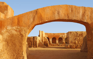 Star wars movie set in the Sahara desert of Tunisia